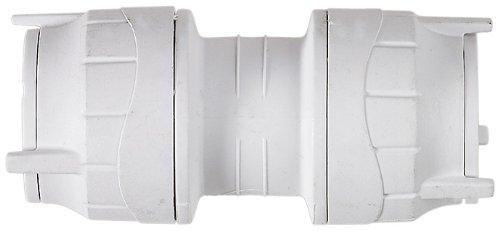 Polyfit Gerades Verbindungsstück mit Stecksystem 15 mm 5 Stück Weiß