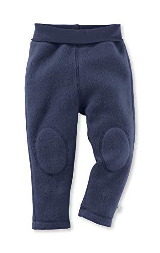 hessnatur Baby Mädchen und Jungen Unisex Fleece Hose aus Reiner Bio-Baumwolle dunkelblau 98/104 -