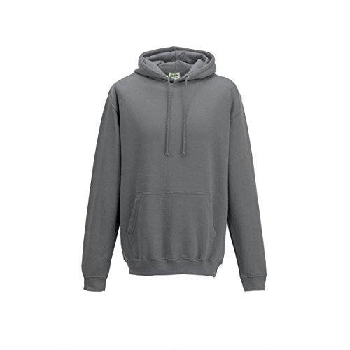 Sports polyester hoodie AWDis Hoods Streetwear Felpa Cappuccio Uomo Steel Grey