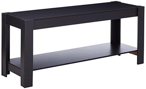 Furinno Laptoptisch 12125bk Parsons Entertainment Center Fernsehen Ständer/Couchtisch, schwarz