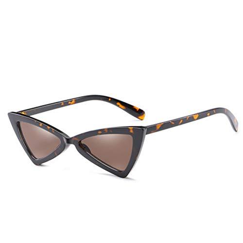 GJYANJING Sonnenbrille Niedliche Sexy Retro Cat Eye Sonnenbrille Frauen Kleine Schwarze Weiße Dreieck Vintage Sonnenbrille Rot Weiblich Uv400