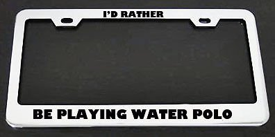 Moon I'd Rather Be Playing Water Polo Kennzeichenrahmen für Herren, Damen, Auto-Garadge Dekor -