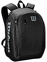 WILSON Tour Backpack Black/Grey Tennis Bags, Adultos Unisex, 2 Rackets
