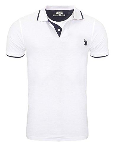 U.S. POLO ASSN. Shortsleeve Polo Shirt Herren Polo-Shirt Polohemd Weiß 197 4260851887 100, Größenauswahl:M (Us Polo Assn Polo)
