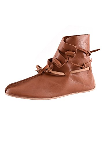 Epic Armoury- Shoes Thor-Brown-46 Zapatos, Color marrón, 12 uk (Iron Fortress 10120146)