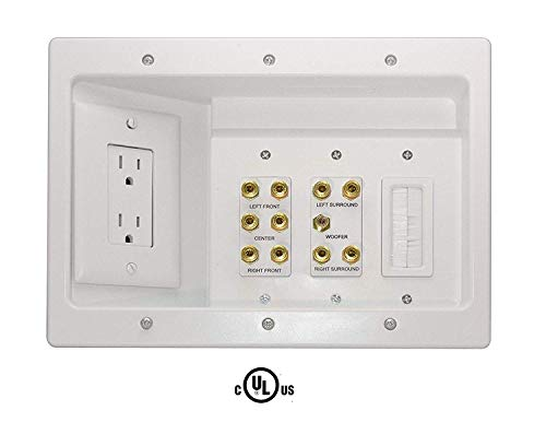OnQ/Legrand ht2103whv1Home Theater Connection Kit Video A/v Wall Plate