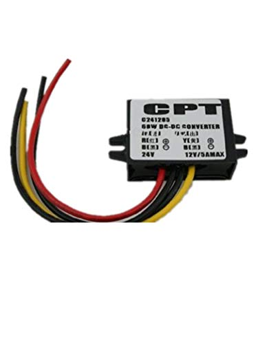 Autek DC/DC Converter Buck Converter 24V to 12V 5A 60W Step-Down Modul Car Power Supply Voltage DCCON-CPT245 5a Switching