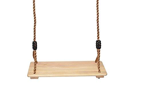 Kinderschaukel aus Holz: Hängen Sie diese verstellbare Indoor / Outdoor Brettschaukel draußen an Ihren Lieblingsbaum oder drinnen von der Decke des Kinderzimmers   Schaukelsitz mit verstellbarem Seil