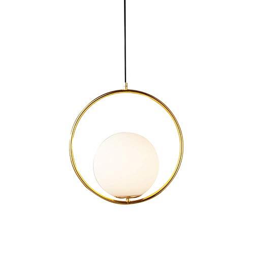 ZNDDDM Ceiling Lights Living Room Modern, Modern Fashion Iron Glass Pendant Light for Living Room Bedroom Kitchen Dining Room Island, Bar, 30Cm, Gold