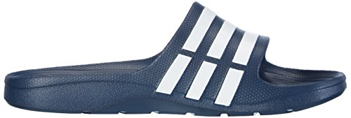 Adidas Duramo Slide - Mules natation Mixte Adulte Bleu (New Navy/White/New Navy)