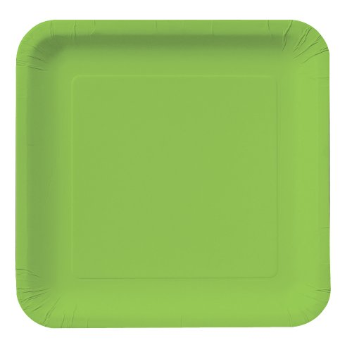 Creative Converting Touch of Color 18 Count Square Paper Dinner Plates, Fresh Lime by Creative Converting