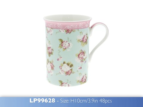 New Forever England Home Martha Rose Fine Bone China Kitchen Mug Gift Boxed Cup
