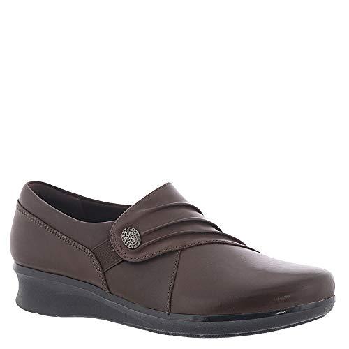 CLARKS Women's, Hope Roxanne Low Heel Shoes Brown 9 N Clarks Womens Heels
