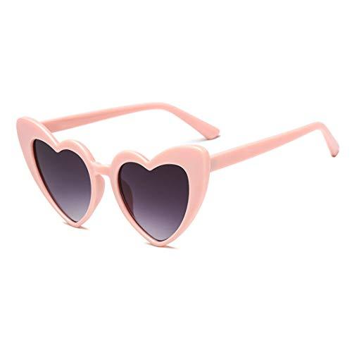 DAIYSNAFDN Liebe Herz Sonnenbrille Frauen Vintage Cat Eye Sonnenbrille Geschenk Herz Form Gläser 3