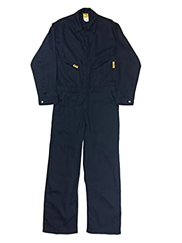 Lapco FR GOCLW6NY-40-RG Flame Resistant Light Weight Deluxe Coveralls, Regular,