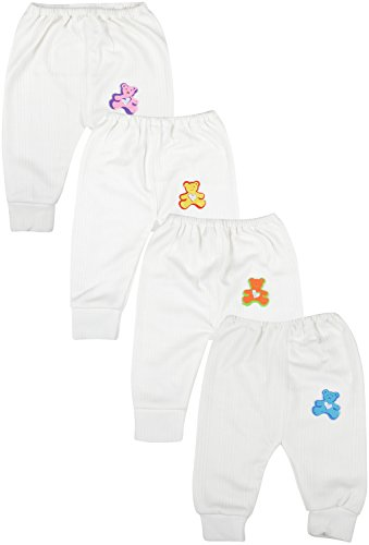 kuchipoo Unisex Regular Fit Thermal Pyjama Bottom (KUC-PAJ-108_1-2 Years_Off White)