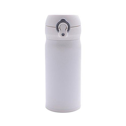 Tasse légère créative tasse de voiture d'acier inoxydable tasse de bureau d'hommes et de femmes tasse portative de sports de plein air (Color : Blanc)