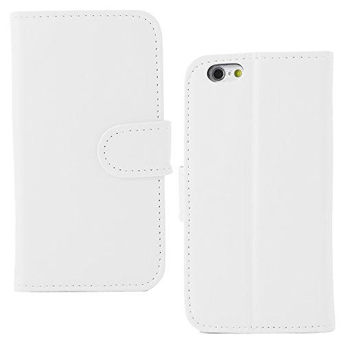 """ebestStar - pour Apple iPhone 6S 6 écran 4.7"""" - Housse Coque Etui Portefeuille Support PU Cuir + Stylet tactile, Couleur Noir [Dimensions PRECISES de votre appareil : 138.1 x 67 x 6.9 mm, écran 4.7''] Blanc"""