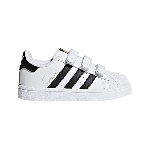 adidas Originals Baby Superstar CF I Sneaker, White/Core Black/White, 5 M US Toddler (Adidas Toddler Sneaker)
