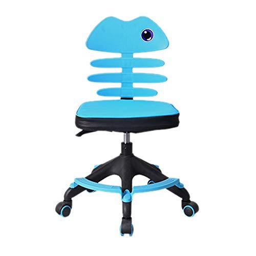 Kinder Student Chair, Armlehne ohne Rückenlehne verstellbar Studie Schreibtischstühle Ergonomische Home Office Computer Schreibtischstuhl Drehstuhl für Kinder Teens, Lift Sitz Sitz Stuhl Sitz Haltungs -
