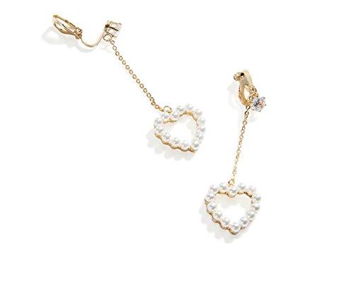 Imitation Perle Lange Ohrclips, Ohrringe, Temperament Liebe Ohrringe, Koreanische Anhänger, Frauen Ohne Ohrringe Ohrringe,Golden,Einheitsgröße HYW