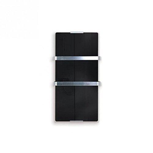 Purline ZAFIR V600T B - Radiador Toallero Eléctrico de Cristal Templado y Control por App WIFI, Negro
