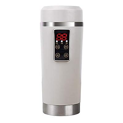 YIZHANGVoiture électrique Tasse 12V Voiture avec Tasse d'eau Chauffage Tasse Bouilloire Voyage Portable Isolant Chauffe-Eau