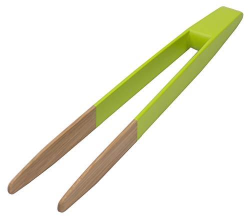 Pince à toast en bambou. 24 cm colorée vert non aimantée pour...