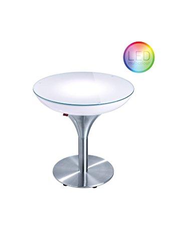 Moree LED Lampe de Pied Lounge M 55 LED Pro Accu, métallique/Transparent/Blanc, Aluminium et Plastique, 27 - 06 - 55