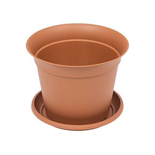 Pot de fleur Romantica avec soucoup, capacité 4.2 Ltr