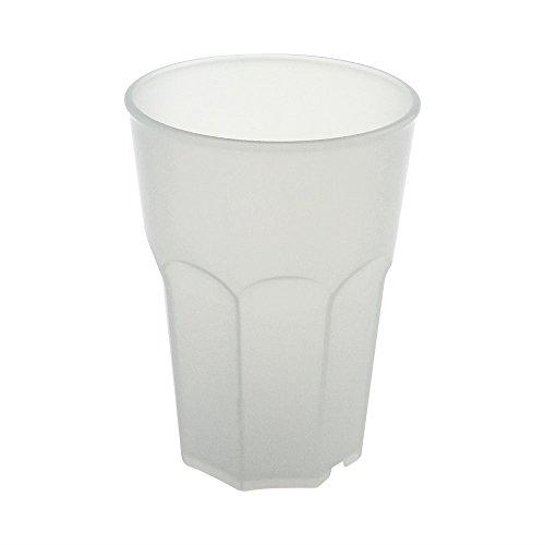 Cocktail Glas aus Hartes Kunststoff von Doimoflair Rocks 35 cl Transparent Leicht Milchig Mehrwegbecher aus hartes Plastik Polyproplen Set 10 stk. stapelbar partygeschir bruchfestes spülmaschinenfest Caipirinha Becher Longdrink Whisky gläser.