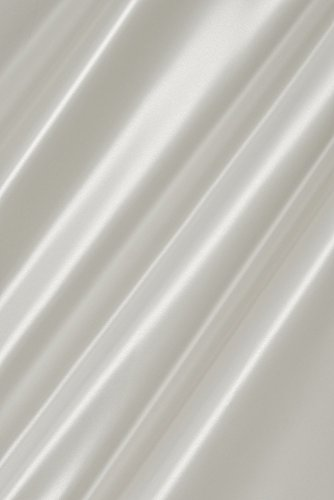 Satin Stoff Meterware (Farbe weiß), erstklassige Qualität, farbecht, glänzend, blickdicht, Dekostoff, Kostümstoff