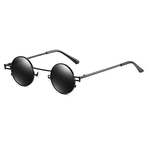 SYQA Retro Sonnenbrille Vintage männer metallrahmen kleine runde Sonnenbrille für Frauen uv400 Sommer Gold rot,C1