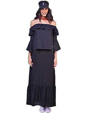 PAOLA T. - Giuliana blusa in popeline con balze