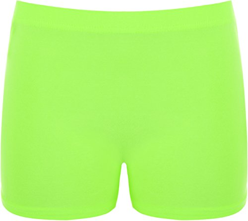 WearAll - Damen Elastisch Shorts Kurze Hose Hot Pants - Grün - 36-38