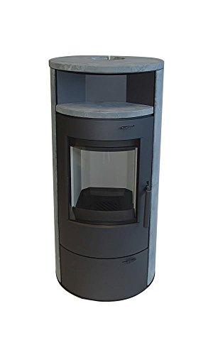 TrendLine Dauerbrandofen Vento 7 kW Naturstein Kaminofen Kamin Werkstattofen