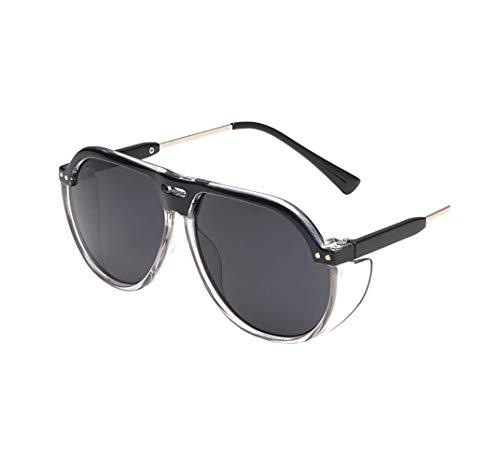 Hniunew Vintage Retro Mode Katzenauge Brille Sonnenbrille Damenbrillen VerfäRbung Linse Mirror Mit Spiegelhalterung Farbige Sonnenbrille Balken ÜBergroßE Travel Sonnenbrille