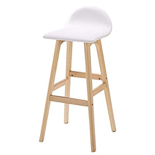 Wohnmöbel Barhocker Moderne Stil Bar Barhocker Barhocker Mit Holzbeinen Stühle Amp Hocker FENPING (Color : Red, Size : 36x35x82cm) - Chrom-holz-finish Bar Hocker