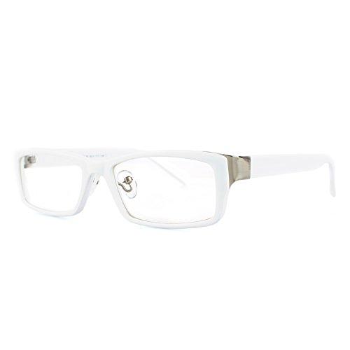 DISTRESSED - OPTIQUE DLX Nerd Modebrille ohne St_rke weiss