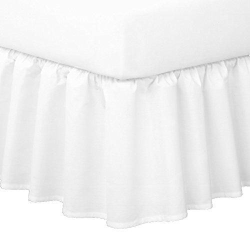 clicktostyle Parure 1,2 m double Petit Tour de lit en polycoton teint Uni 5 couleurs