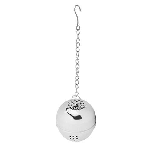 LouiseEvel215 Edelstahl Tee Locking Gewürz Ei geformt Ball, 1 Stück Gewürz Ei geformt Silber Edelstahl Gewürzkugel Teakettles Sieb Tee Filter Verriegelung - Locking Ball