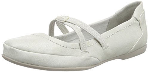 Marco Tozzi - 24224, Ballerine Donna Bianco (Weiß (OFFWHITE ANTIC 193))