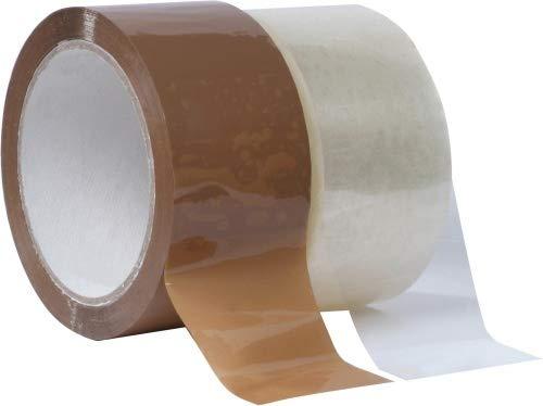 Preisvergleich Produktbild gws Paket-Klebeband PP leise Verpackungsband geräuscharm abrollend / Packband mit hoher Klebkraft in Profi-Qualität / versch. Farben / Länge: 66 m / Breite: 50 mm / Dicke: 50 m (36 Rollen - farblos)