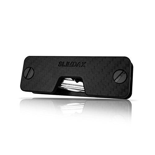 Premium Key Organizer Carbon mit Flaschenöffner und Öse zum Befestigen von Schlüsselanhängern - für bis zu 12 Schlüssel - Schlüsselbund