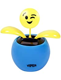 Figurine smiley dansant se balance à l'énergie solaire type Nohohon Emoji émoticônes balancier déco voiture maison terrasse jardin idée cadeau décoratif flip swin original, choisir:SB-35 Emoticon clin