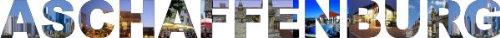 INDIGOS UG - WANDTATTOO / Wandsticker / Wandaufkleber / Aufkleber farbige Wandschrift Städtename Aschaffenburg mit Sehenswürdigkeiten 180 x 14 cm Länge