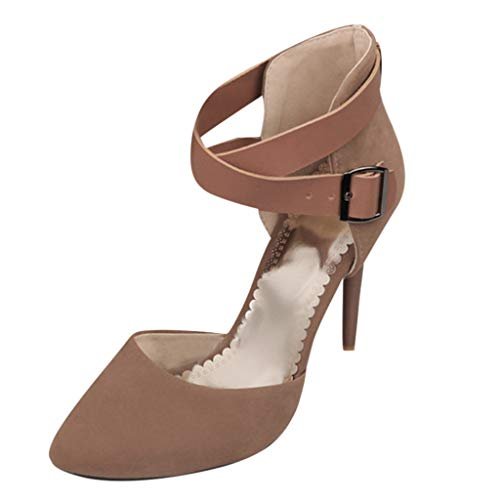 Mitlfuny Damen Sommer Sandalen Bohemian Flach Sandaletten Sommer Strand Schuhe,Damen High Heels Kleid Hochzeit Elegante Pump Sandalen Sandalen Stiefel