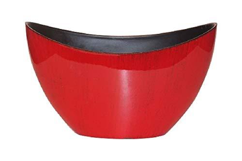 Schreiber Bol décoratif décoratif en Plastique Rouge/Noir laqué 24 x 10 x 14 cm