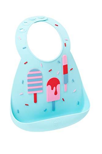 Make My Day BB127 Unisex Kinder Silikonlätzchen - Eiscreme , Mehrfarbig