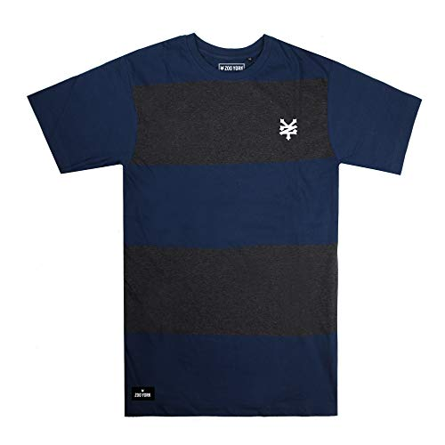 Zoo York Herren Logo T-Shirt, Blau (Blue/Charcoal Heather BCH), Herstellergröße: MEDIUM - Zoo York-logos